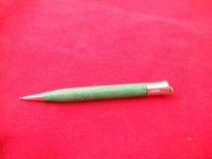 """#3617 VINT. MARBELIZED GREEN SHEAFFER  GOLD FILLED LIFETIME PENCI RING TOP 31/4"""""""