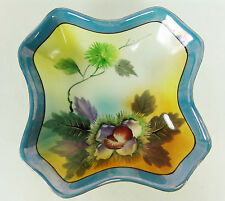 Chikaramachi Hand Painted Bowl Vintage Made in Japan Lustreware Iridescent