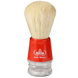 Shaving Brush Natural Bristles Red Pig Bristles Pure Brushes Omega Made IN Italy