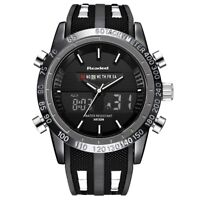 Men's Wrist Watch Waterproof Military Style Analog Digital Sports Watches Led