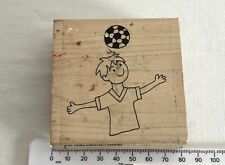 Lili of the Valley Collection INCA Ink Stamp Colchester - Line Art Footballer