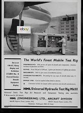 B.O.A.C. BOEING STRATOCRUISER AT LONDON HEATHROW FINEST MOBILE TEST RIG 1955 AD