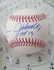 John Smoltz, Greg Maddux, Tom Glavine signed baseball HOF INSCRIPTIONS JSA LOA