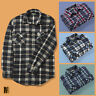 Mens Fleece Lumberjack Check Shirts Warm Button Long Sleeve Medium Large XL XXL