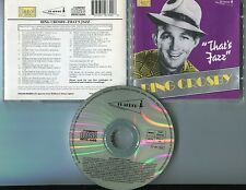 Bing Crosby CD that's Jazz © 1991 uk-22 - Track # past cd9739