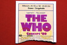 THE WHO ORIGINAL CONCERT TICKET STUB GERMANY 29.3.1980.
