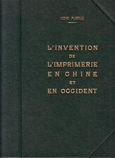 ALIBAUX Henri - L'Invention de l'Imprimerie en Chine et en Occident