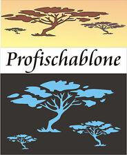 Wandschablonen, Wandschablone, Malerschablone, Afrikastyle, Deko, Savannenbäume