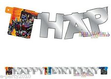 TRANSFORMERS HAPPY BIRTHDAY BANNER ~ Party Supplies Hanging Decorations Room