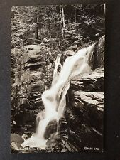 GRAFTON COUNTY, NH. 1936 RPPC  AVALANCHE FALLS, FLUME GORGE FRANCONIA NOTCH