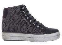 IGI & CO 87735 GRIGIO scarpe donna sneakers tronchetto pelle camoscio strass