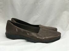 Clarks Collection Slip On Shoes Women's US 11 M Snakeskin Pattern Soft Cushion