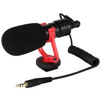 DSLR Camera Microphone Video Mic 3.5mm & Windshield Foam Cover for Nikon/Canon