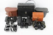 4 x Vintage BINOCULARS Inc. Pathescope, Dolland & Solus Etc. w/ Cases WORKING