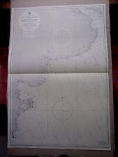 """1965 Argentina River Plate Cabo Dos Bahias navegación mapa de mar 28"""" X 41"""" B33"""