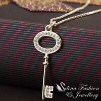 925 Sterling Silver Underneath With 18K Gold Plated Delicate Key Necklace