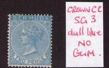 Bermuda Victoria 1865 3d Dull blue Clean stamp cat.£475, read description.