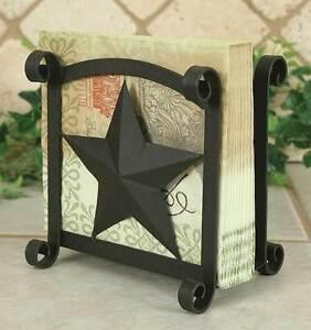 Country Farmhouse Metal Star Napkin Holder