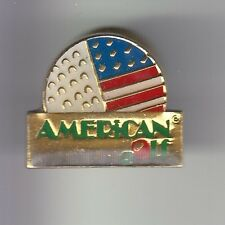 RARE PINS PIN'S .. SPORT GOLF GOLFING GREEN CLUB BALLE AMERICAN FLAG USA ~C4