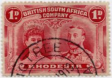 RHODESIA 1913 DOUBLE HEAD 1d  FIG TREE postmark