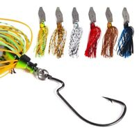 1Pc 16g Chatterbait Blade Bait with Rubber Skirt Buzzbait Fishing Lures Tackle