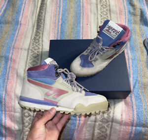 Vtg 80s 90s Hi-Tec ABC Concept Hiking Shoes, Airball, Trail Boots, Neon, 7