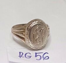 RG56 Vintage 835 Silber Ring Siegelring Modernist Gr.56