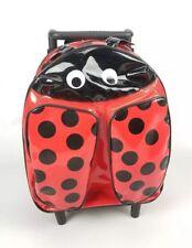 "Cartoon Animal Ladybug Kids Backpack Boys Girls School Bag on Wheels 13"" x 9"""