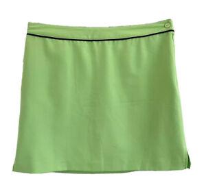 EP PRO Kelly Green Golf Skort Skirt Navy Piping Polyester Microfiber Size 14