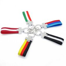 National Flag Keychain Stripe Keyring Germany Italy England Austria Switzerland