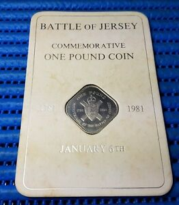 1981 UK Bicentenary of the Battle of Jersey Commemorative One Pound Coin
