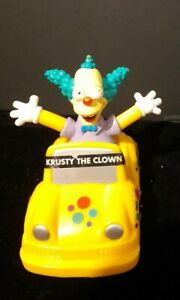 Burger King Krusty the Clown Simpsons Car Meal Toy, Pull back car 2003