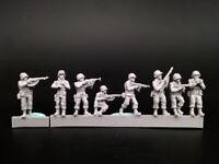 1/72 Resin US Car Crew 8 Soldiers Kit Unassembled Unpainted 72178
