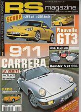 RS MAGAZINE 19 PORSCHE 964 CARRERA 4 BOXSTER S 996 C2 911 SC JUBILE 944 TURBO CA