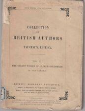 COLLECTION FO BRITISH AUTHORS Vol. 22 ed. Tauchnitz 1842