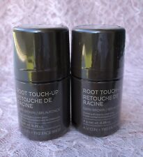 (2) AVON The Face Shop Root Touch-Up Covers Gray Oil-Free Wash-Off DARK BROWN