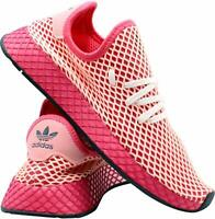Adidas Youth Deerupt Runner Pink White Shoes Lace Up Size 4.5 Originals NWT