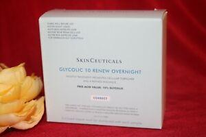 SKINCEUTICALS GLYCOLIC 10 RENEWAL OVERNIGHT 10 SAMPLE BOX AUTHENTIC FRESH TRAVEL