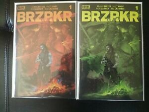 BRZRKR #1 lot of 2 LTD (ONLY 400 & 750 EXIST) KELLY GREEN & RED VARIANTS!