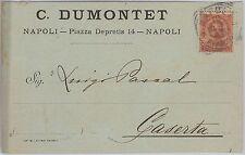 53819  - ITALIA REGNO - Storia Postale: CARTOLINA pubblicitaria da NAPOLI - 1898