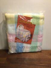 Lebanon Woolen Mills Plaid Pastel Baby Blanket 36 x 50 New Factory SealedG