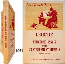 Leibniz nouveaux essais sur entendement humain 1961 philosophie langage logique