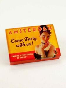 Amsterdam - Come Party with us - Tin Pocket Box - Blue Q - Buy 1 Get 1 Free -...