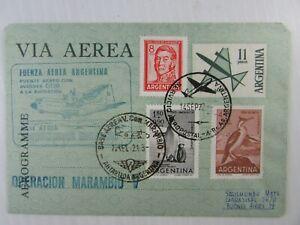 1972 Argentina Aerogram Vicecomodor Marambio Antarctic #695B #B30 #C89 #CB29 VF