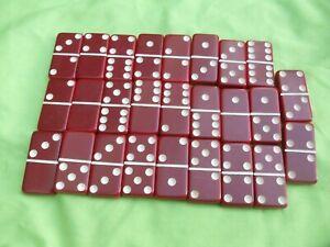 Cranberry Red Bakelite Catalin  Dominoes