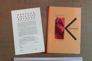 Coleridge Kubla Khan - Penmiel Press - Edward Burrett - Clarke Hutton 6/75