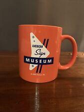 American sign museum mug cincinnati orange retro
