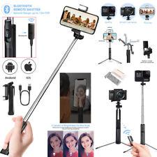 Bluetooth Remote Selfie Stick Tripod Monopod w/LED Fill Light for iPhone Samsung