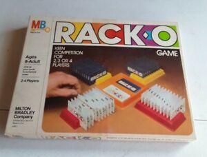 VINTAGE Milton Bradley RACK-O Card Game 1980 Complete Clean Excellent No. 4765 C