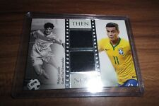 2016 FUTERA UNIQUE PHILIPPE COUTINHO THEN & NOW USED DOUBLE JERSEY PATCH /55
